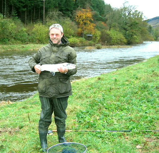 Roger's first Salmon ever caught - Holly Lee, River Tweed, Scotland